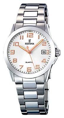 Festina F16377.3 - женские наручные часы из коллекции ClassicFestina<br><br><br>Бренд: Festina<br>Модель: Festina F16377/3<br>Артикул: F16377.3<br>Вариант артикула: None<br>Коллекция: Classic<br>Подколлекция: None<br>Страна: Испания<br>Пол: женские<br>Тип механизма: кварцевые<br>Механизм: M1N12<br>Количество камней: None<br>Автоподзавод: None<br>Источник энергии: от батарейки<br>Срок службы элемента питания: None<br>Дисплей: стрелки<br>Цифры: арабские<br>Водозащита: WR 50<br>Противоударные: None<br>Материал корпуса: нерж. сталь<br>Материал браслета: нерж. сталь<br>Материал безеля: None<br>Стекло: минеральное<br>Антибликовое покрытие: None<br>Цвет корпуса: None<br>Цвет браслета: None<br>Цвет циферблата: None<br>Цвет безеля: None<br>Размеры: 30 мм<br>Диаметр: None<br>Диаметр корпуса: None<br>Толщина: None<br>Ширина ремешка: None<br>Вес: None<br>Спорт-функции: None<br>Подсветка: стрелок<br>Вставка: None<br>Отображение даты: число<br>Хронограф: None<br>Таймер: None<br>Термометр: None<br>Хронометр: None<br>GPS: None<br>Радиосинхронизация: None<br>Барометр: None<br>Скелетон: None<br>Дополнительная информация: None<br>Дополнительные функции: None