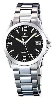 Festina F16377.4 - женские наручные часы из коллекции ClassicFestina<br><br><br>Бренд: Festina<br>Модель: Festina F16377/4<br>Артикул: F16377.4<br>Вариант артикула: None<br>Коллекция: Classic<br>Подколлекция: None<br>Страна: Испания<br>Пол: женские<br>Тип механизма: кварцевые<br>Механизм: M1N12<br>Количество камней: None<br>Автоподзавод: None<br>Источник энергии: от батарейки<br>Срок службы элемента питания: None<br>Дисплей: стрелки<br>Цифры: арабские<br>Водозащита: WR 50<br>Противоударные: None<br>Материал корпуса: нерж. сталь<br>Материал браслета: нерж. сталь<br>Материал безеля: None<br>Стекло: минеральное<br>Антибликовое покрытие: None<br>Цвет корпуса: None<br>Цвет браслета: None<br>Цвет циферблата: None<br>Цвет безеля: None<br>Размеры: 30 мм<br>Диаметр: None<br>Диаметр корпуса: None<br>Толщина: None<br>Ширина ремешка: None<br>Вес: None<br>Спорт-функции: None<br>Подсветка: стрелок<br>Вставка: None<br>Отображение даты: число<br>Хронограф: None<br>Таймер: None<br>Термометр: None<br>Хронометр: None<br>GPS: None<br>Радиосинхронизация: None<br>Барометр: None<br>Скелетон: None<br>Дополнительная информация: None<br>Дополнительные функции: None