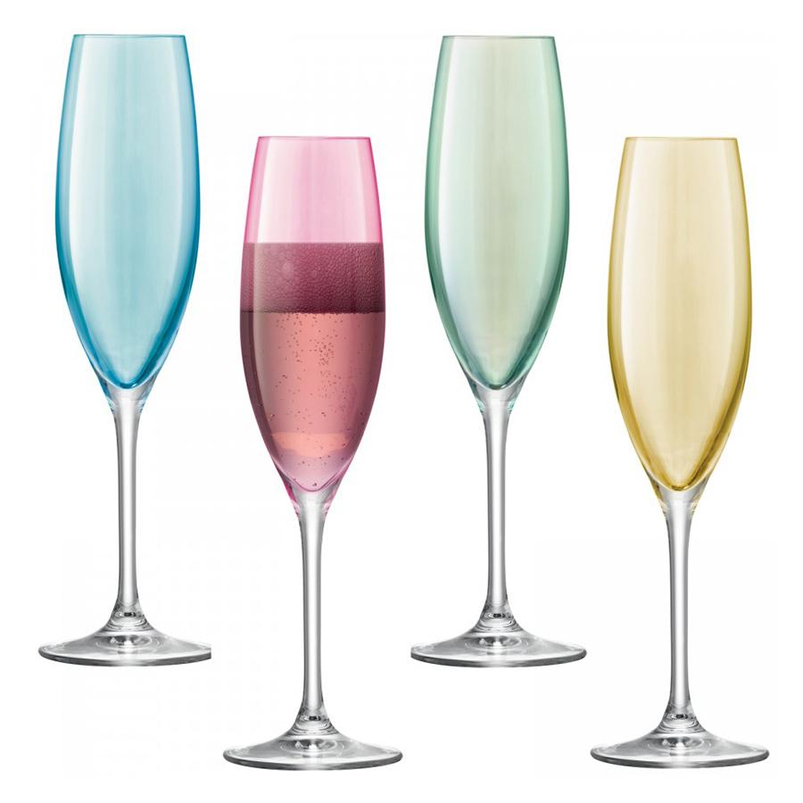 Бокал-флейта для шампанского Polka 4 шт. пастельный LSA G978-08-294Бокалы и стаканы<br>Разноцветные бокалы для шампанского Polka — это сочетание элегантности, винтажного гламурного блеска и безупречного качества. Каждый бокал создан из выдувного стекла и раскрашен вручную. Набор добавит весенней яркости сервировке в любимой гостиной или на свежем воздухе. Сет упакован в красивую коробку.<br>