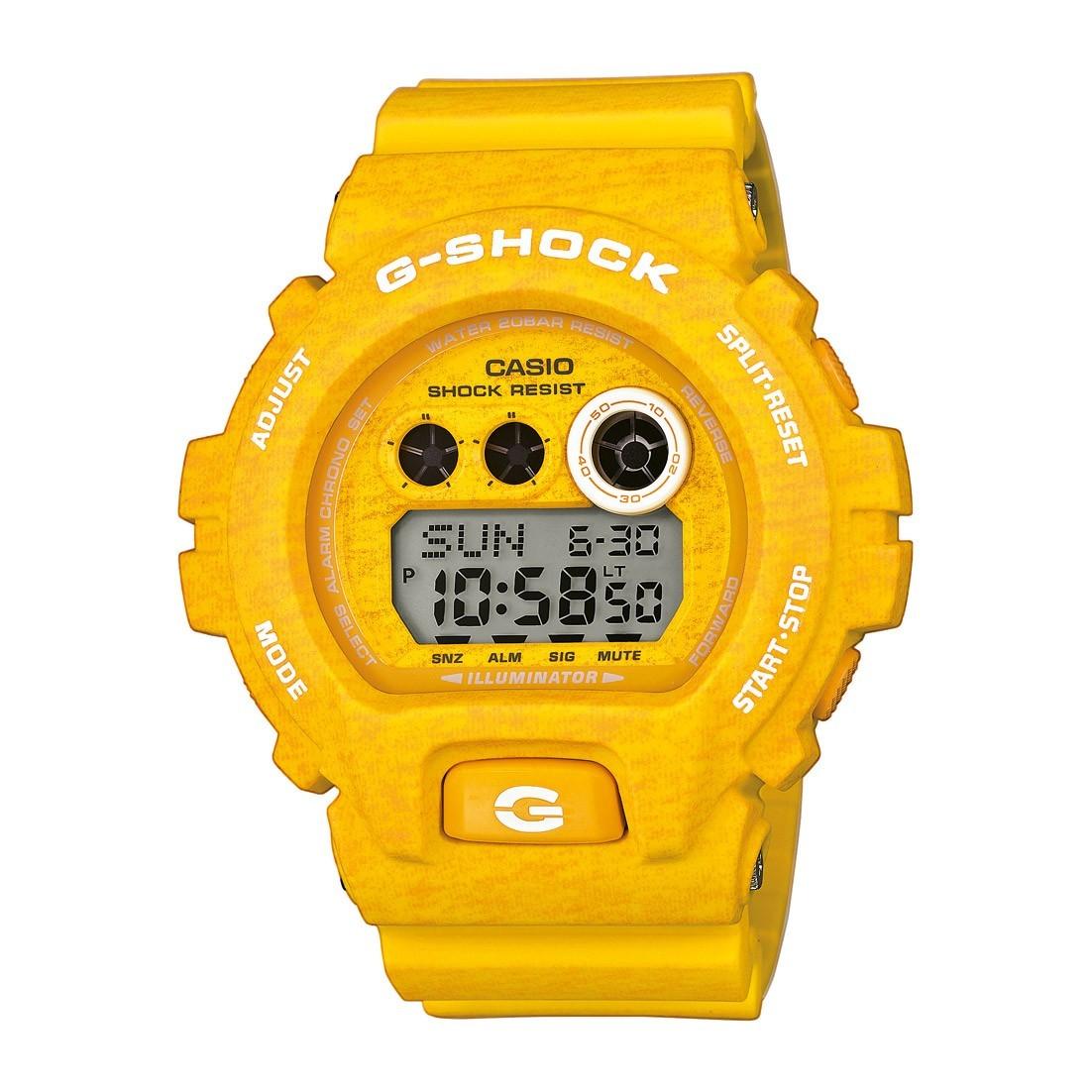 Casio G-SHOCK GD-X6900HT-9E / GD-X6900HT-9ER - мужские наручные часыCasio<br><br><br>Бренд: Casio<br>Модель: Casio GD-X6900HT-9E<br>Артикул: GD-X6900HT-9E<br>Вариант артикула: GD-X6900HT-9ER<br>Коллекция: G-SHOCK<br>Подколлекция: None<br>Страна: Япония<br>Пол: мужские<br>Тип механизма: кварцевые<br>Механизм: None<br>Количество камней: None<br>Автоподзавод: None<br>Источник энергии: от батарейки<br>Срок службы элемента питания: None<br>Дисплей: цифры<br>Цифры: None<br>Водозащита: WR 200<br>Противоударные: есть<br>Материал корпуса: пластик<br>Материал браслета: пластик<br>Материал безеля: None<br>Стекло: минеральное<br>Антибликовое покрытие: None<br>Цвет корпуса: None<br>Цвет браслета: None<br>Цвет циферблата: None<br>Цвет безеля: None<br>Размеры: 53.9x57.5x20.4 мм<br>Диаметр: None<br>Диаметр корпуса: None<br>Толщина: None<br>Ширина ремешка: None<br>Вес: 79 г<br>Спорт-функции: секундомер, таймер обратного отсчета<br>Подсветка: дисплея<br>Вставка: None<br>Отображение даты: вечный календарь, число, месяц, год, день недели<br>Хронограф: None<br>Таймер: None<br>Термометр: None<br>Хронометр: None<br>GPS: None<br>Радиосинхронизация: None<br>Барометр: None<br>Скелетон: None<br>Дополнительная информация: автоподсветка, ежечасный сигнал, повтор сигнала будильника, функция Flash alert, функция включения/отключения звука кнопок; элемент питания CR2032, срок службы батарейки 10 лет<br>Дополнительные функции: второй часовой пояс, будильник (количество установок: 3)