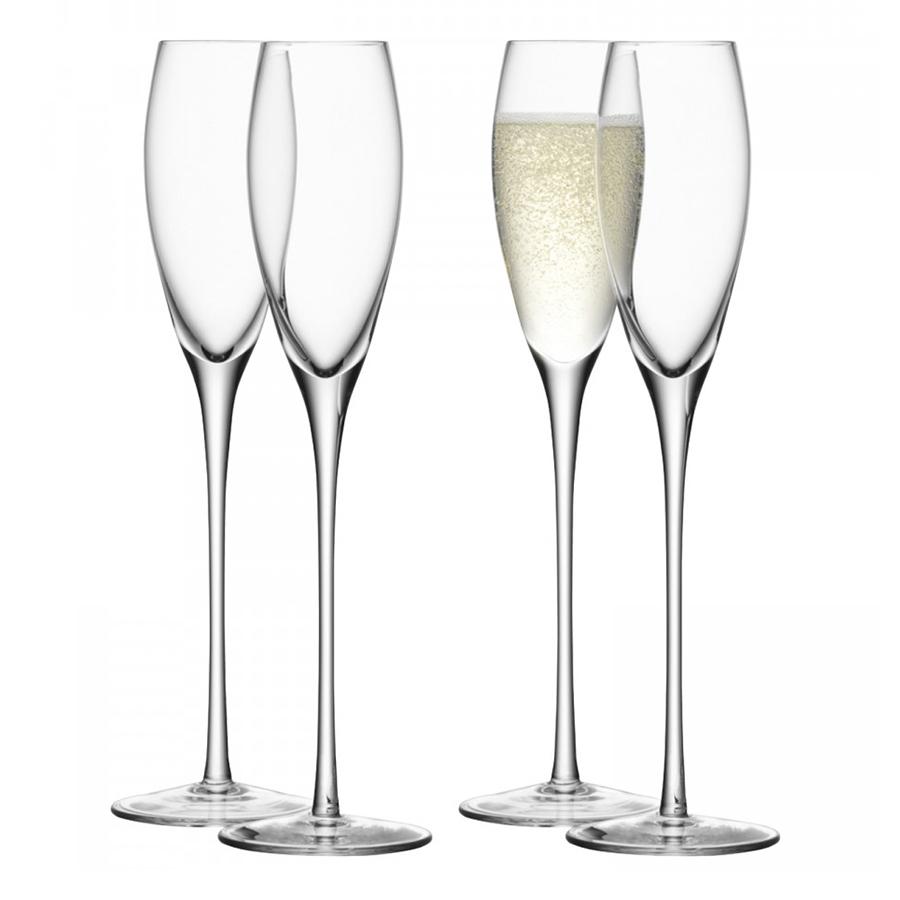Бокал-флейта для шампанского Wine 4 шт. LSA G279-07-991Бокалы и стаканы<br>Бокалы из коллекции Wine—&amp;nbsp,&amp;nbsp,воплощение элегантности, минимализма и изысканности. Набор состоит из 4-х бокалов, которые идеально подходят для сервировки игристых вин и коктейлей на их основе. Безупречное качество стекла ручной работы от LSA International и утонченный дизайн делает этот сет прекрасным подарком на любой праздник.<br>
