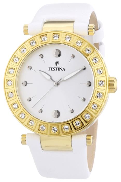 Festina F16646.1 - женские наручные часы из коллекции DreamFestina<br><br><br>Бренд: Festina<br>Модель: Festina F16646/1<br>Артикул: F16646.1<br>Вариант артикула: None<br>Коллекция: Dream<br>Подколлекция: None<br>Страна: Испания<br>Пол: женские<br>Тип механизма: кварцевые<br>Механизм: Miyota 2035<br>Количество камней: None<br>Автоподзавод: None<br>Источник энергии: от батарейки<br>Срок службы элемента питания: None<br>Дисплей: стрелки<br>Цифры: отсутствуют<br>Водозащита: WR 50<br>Противоударные: None<br>Материал корпуса: нерж. сталь, PVD покрытие (полное)<br>Материал браслета: кожа<br>Материал безеля: None<br>Стекло: минеральное<br>Антибликовое покрытие: None<br>Цвет корпуса: None<br>Цвет браслета: None<br>Цвет циферблата: None<br>Цвет безеля: None<br>Размеры: 38 мм<br>Диаметр: None<br>Диаметр корпуса: None<br>Толщина: None<br>Ширина ремешка: None<br>Вес: None<br>Спорт-функции: None<br>Подсветка: стрелок<br>Вставка: циркон<br>Отображение даты: None<br>Хронограф: None<br>Таймер: None<br>Термометр: None<br>Хронометр: None<br>GPS: None<br>Радиосинхронизация: None<br>Барометр: None<br>Скелетон: None<br>Дополнительная информация: None<br>Дополнительные функции: None