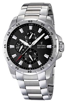 Festina F16662.3 - мужские наручные часы из коллекции MultifunctionFestina<br><br><br>Бренд: Festina<br>Модель: Festina F16662/3<br>Артикул: F16662.3<br>Вариант артикула: None<br>Коллекция: Multifunction<br>Подколлекция: None<br>Страна: Испания<br>Пол: мужские<br>Тип механизма: кварцевые<br>Механизм: M6P27<br>Количество камней: None<br>Автоподзавод: None<br>Источник энергии: от батарейки<br>Срок службы элемента питания: None<br>Дисплей: стрелки<br>Цифры: отсутствуют<br>Водозащита: WR 100<br>Противоударные: None<br>Материал корпуса: нерж. сталь<br>Материал браслета: нерж. сталь<br>Материал безеля: None<br>Стекло: минеральное<br>Антибликовое покрытие: None<br>Цвет корпуса: None<br>Цвет браслета: None<br>Цвет циферблата: None<br>Цвет безеля: None<br>Размеры: 45x12 мм<br>Диаметр: None<br>Диаметр корпуса: None<br>Толщина: None<br>Ширина ремешка: None<br>Вес: 177 г<br>Спорт-функции: None<br>Подсветка: стрелок<br>Вставка: None<br>Отображение даты: число, день недели<br>Хронограф: None<br>Таймер: None<br>Термометр: None<br>Хронометр: None<br>GPS: None<br>Радиосинхронизация: None<br>Барометр: None<br>Скелетон: None<br>Дополнительная информация: None<br>Дополнительные функции: None