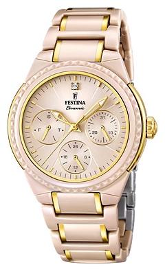 Festina F16699.3 - женские наручные часы из коллекции CeramicFestina<br><br><br>Бренд: Festina<br>Модель: Festina F16699/3<br>Артикул: F16699.3<br>Вариант артикула: None<br>Коллекция: Ceramic<br>Подколлекция: None<br>Страна: Испания<br>Пол: женские<br>Тип механизма: кварцевые<br>Механизм: M6P29<br>Количество камней: None<br>Автоподзавод: None<br>Источник энергии: от батарейки<br>Срок службы элемента питания: None<br>Дисплей: стрелки<br>Цифры: отсутствуют<br>Водозащита: WR 50<br>Противоударные: None<br>Материал корпуса: нерж. сталь + керамика, частичное покрытие корпуса<br>Материал браслета: нерж. сталь + керамика, частичное дополнительное покрытие<br>Материал безеля: None<br>Стекло: минеральное<br>Антибликовое покрытие: None<br>Цвет корпуса: None<br>Цвет браслета: None<br>Цвет циферблата: None<br>Цвет безеля: None<br>Размеры: 38 мм<br>Диаметр: None<br>Диаметр корпуса: None<br>Толщина: None<br>Ширина ремешка: None<br>Вес: None<br>Спорт-функции: None<br>Подсветка: стрелок<br>Вставка: None<br>Отображение даты: число, день недели<br>Хронограф: None<br>Таймер: None<br>Термометр: None<br>Хронометр: None<br>GPS: None<br>Радиосинхронизация: None<br>Барометр: None<br>Скелетон: None<br>Дополнительная информация: None<br>Дополнительные функции: None