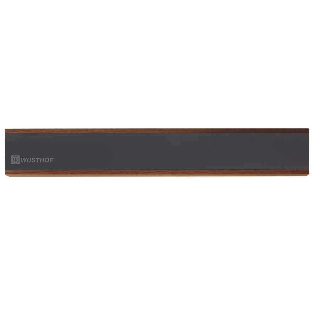 Держатель магнитный 40 см, цвет темное дерево WUSTHOF Magnetic holders арт. 7224/40Магнитные держатели для ножей<br>Осовободить рабочую поверхность на небольшой кухнеисохранить ножи острыми дольше.<br>Магнитный держатель для металлических кухонных ножей, ножниц крепится на стену или дверцу шкафа. В отличие от подставки для ножей - не занимает место на рабочей поверхности. Можно повесить в любомместе, удобном для правшей и левшей. <br>Кухонные ножи при правильном хранении, когда их лезвия не соприкасаются с друг другом или иными металлическими предметами, как это случается при хранении в ящике, дольше держат заточку.<br>