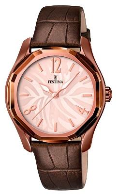 Festina F16740.2 - женские наручные часы из коллекции DreamFestina<br><br><br>Бренд: Festina<br>Модель: Festina F16740/2<br>Артикул: F16740.2<br>Вариант артикула: None<br>Коллекция: Dream<br>Подколлекция: None<br>Страна: Испания<br>Пол: женские<br>Тип механизма: кварцевые<br>Механизм: M2035<br>Количество камней: None<br>Автоподзавод: None<br>Источник энергии: от батарейки<br>Срок службы элемента питания: None<br>Дисплей: стрелки<br>Цифры: арабские<br>Водозащита: WR 50<br>Противоударные: None<br>Материал корпуса: нерж. сталь, PVD покрытие (полное)<br>Материал браслета: кожа<br>Материал безеля: None<br>Стекло: минеральное<br>Антибликовое покрытие: None<br>Цвет корпуса: None<br>Цвет браслета: None<br>Цвет циферблата: None<br>Цвет безеля: None<br>Размеры: 36.4 мм<br>Диаметр: None<br>Диаметр корпуса: None<br>Толщина: None<br>Ширина ремешка: None<br>Вес: None<br>Спорт-функции: None<br>Подсветка: стрелок<br>Вставка: None<br>Отображение даты: None<br>Хронограф: None<br>Таймер: None<br>Термометр: None<br>Хронометр: None<br>GPS: None<br>Радиосинхронизация: None<br>Барометр: None<br>Скелетон: None<br>Дополнительная информация: None<br>Дополнительные функции: None