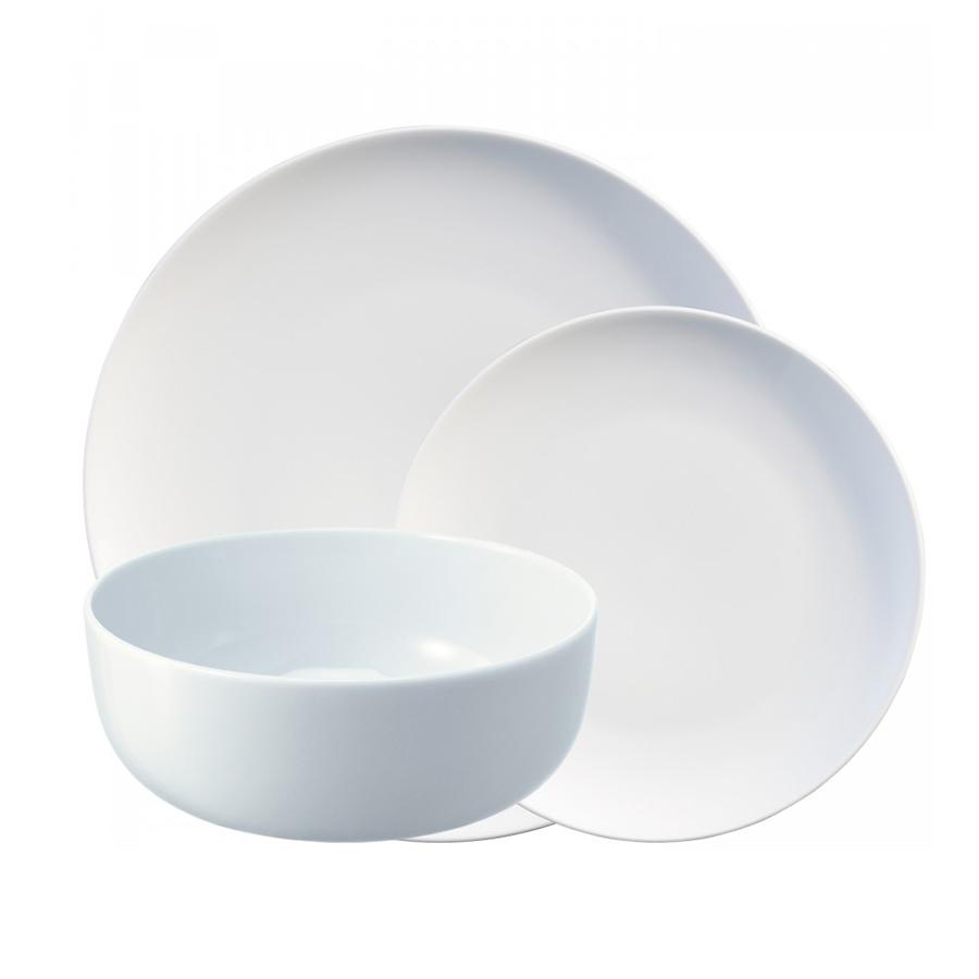 Набор обеденных тарелок Dine 12 шт. LSA P215-00-997Тарелки<br>Dine — коллекция фарфоровой посуды, сочетающей в себе классику и современный дизайн. Сет из 12 тарелок разной формы прекрасно подойдет как для ежедневного использования, так и для торжественных мероприятий. В набор входит 4 миски для супа/хлопьев, 4 тарелки для закусок и десертов, и 4 обеденных тарелок. Элегантная посуда представит блюда в лучшем свете и придаст сервировке элегантности.<br> Набор упакован в коробку и станет отличным подарком на любой праздник.<br>