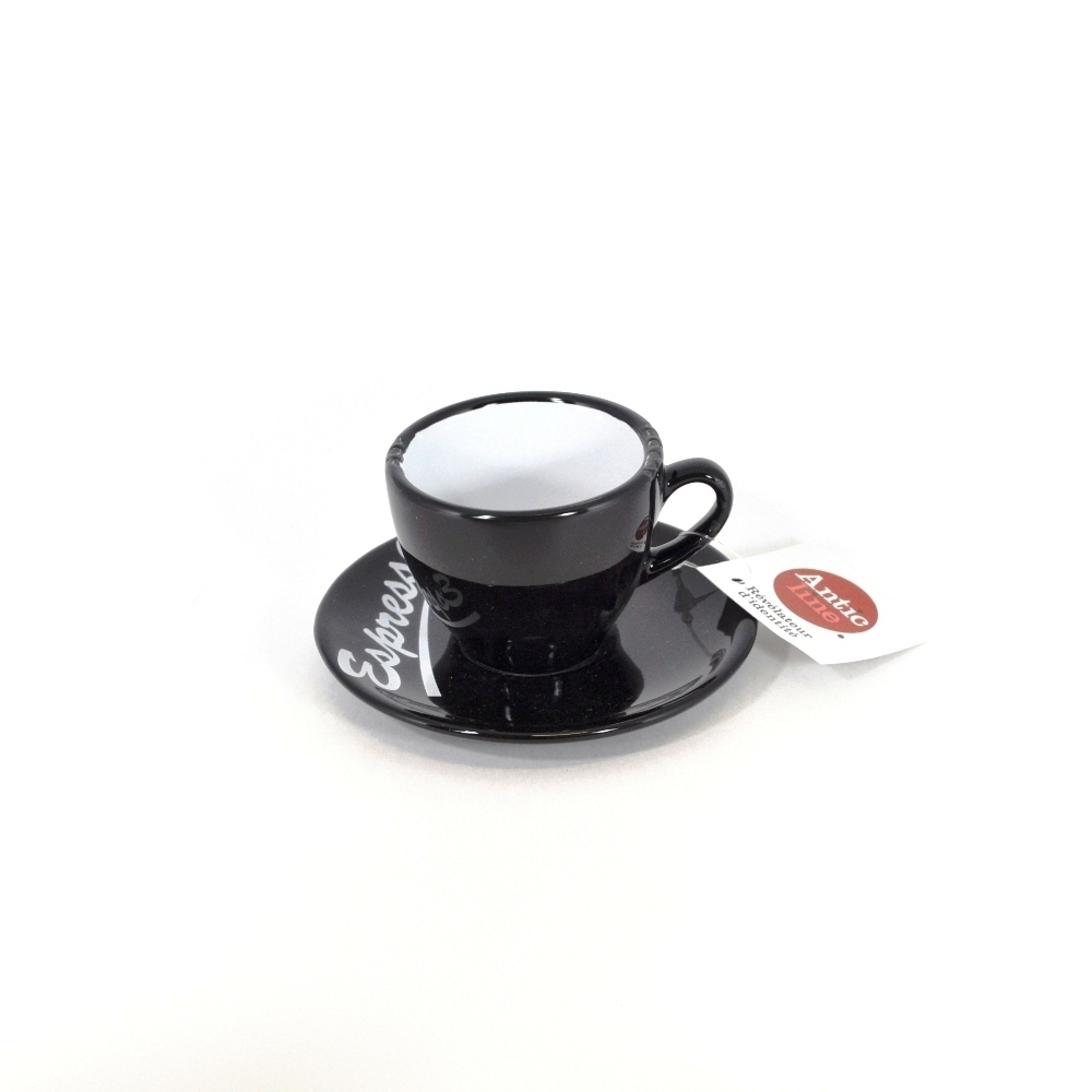 Чашечка эспрессо с блюдцем черная (Фарфор и керамика Antic Line, Франция)Фарфор и керамика Antic Line, Франция<br>Чашечка эспрессо с блюдцем черная<br>Керамика, стилизовано под эмалированный металл<br>Производитель: Antic Line, Франция<br>