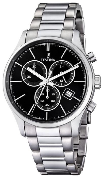 Festina F16578.4 - мужские наручные часы из коллекции ChronographFestina<br><br><br>Бренд: Festina<br>Модель: Festina F16578/4<br>Артикул: F16578.4<br>Вариант артикула: None<br>Коллекция: Chronograph<br>Подколлекция: None<br>Страна: Испания<br>Пол: мужские<br>Тип механизма: кварцевые<br>Механизм: None<br>Количество камней: None<br>Автоподзавод: None<br>Источник энергии: от батарейки<br>Срок службы элемента питания: None<br>Дисплей: стрелки<br>Цифры: отсутствуют<br>Водозащита: WR 100<br>Противоударные: None<br>Материал корпуса: нерж. сталь<br>Материал браслета: нерж. сталь<br>Материал безеля: None<br>Стекло: минеральное<br>Антибликовое покрытие: None<br>Цвет корпуса: None<br>Цвет браслета: None<br>Цвет циферблата: None<br>Цвет безеля: None<br>Размеры: 42 мм<br>Диаметр: None<br>Диаметр корпуса: None<br>Толщина: None<br>Ширина ремешка: None<br>Вес: None<br>Спорт-функции: секундомер<br>Подсветка: стрелок<br>Вставка: None<br>Отображение даты: число<br>Хронограф: есть<br>Таймер: None<br>Термометр: None<br>Хронометр: None<br>GPS: None<br>Радиосинхронизация: None<br>Барометр: None<br>Скелетон: None<br>Дополнительная информация: None<br>Дополнительные функции: None
