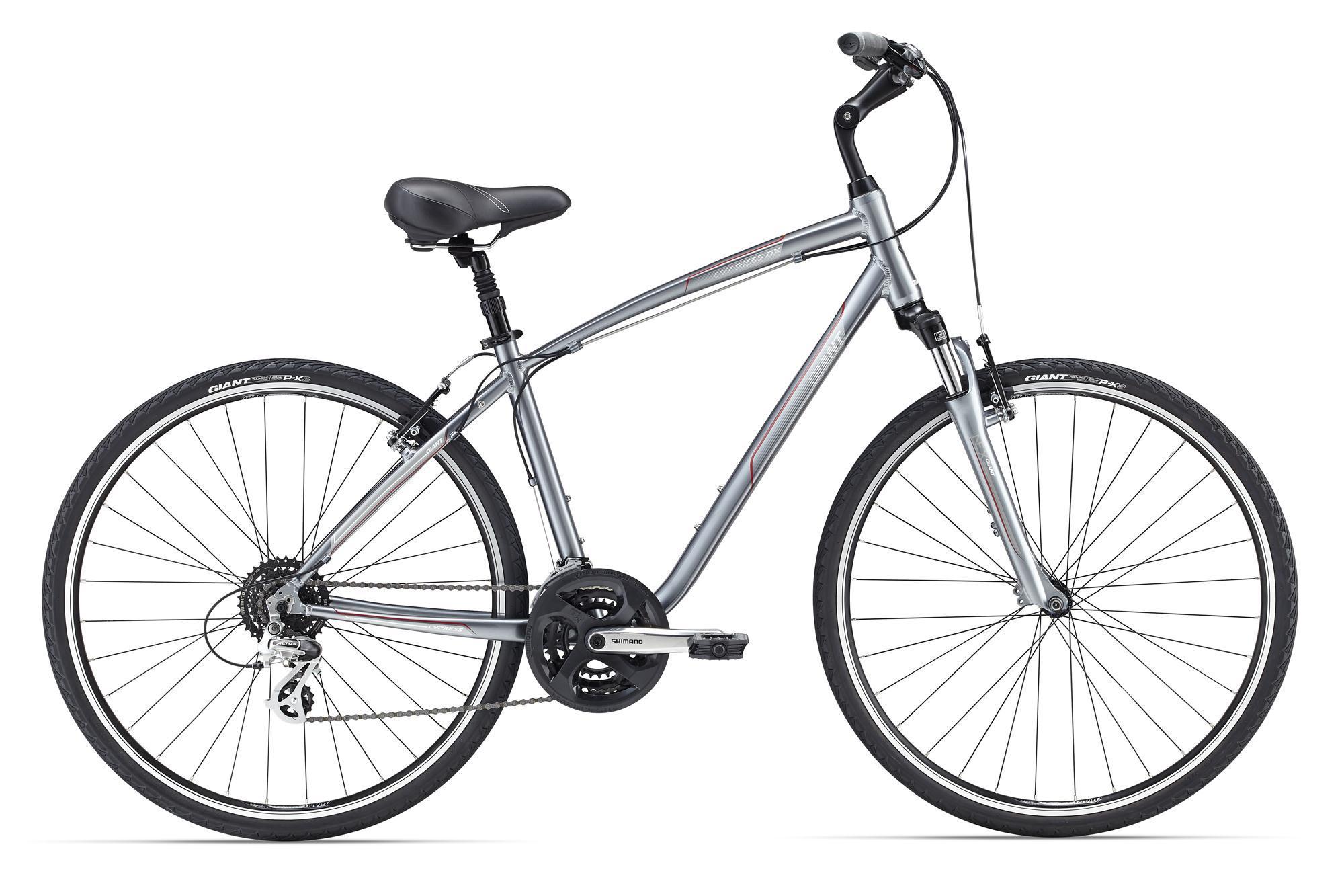 Giant Cypress DX (2016)Городские<br>Замечательный повседневный велосипед, чтобы просто кататься по городу, не важно зачем или с кем. Его основные преимущества – продуманная геометрия рамы из фирменного алюминия ALUXX и удобная посадка, большие колеса 700с, которые отлично подойдут для городского катания, а также амортизационная вилка и подседельный штырь – теперь вам не страшны плохие дороги! На Cypress DX также установлено большое мягкое седло – все на страже вашего комфорта.<br>