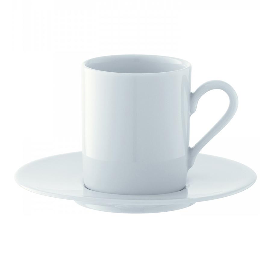 Чашка для эспрессо Dine с блюдцем 4 шт. LSA P055-01-997Кружки и чашки<br>Dine — коллекция фарфоровой посуды, сочетающей в себе классику и современный дизайн. Сет из 4 чашек для эспрессо с блюдцами прекрасно подойдет как для ежедневного использования, так и для торжественных мероприятий. Набор упакован в красивую коробку и станет отличным подарком на любой праздник.<br>
