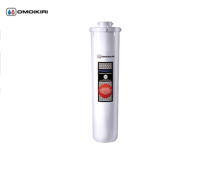 Сменный модуль M-Complex 5 для OMOIKIRI 2.1.4 (4998016)Фильтры для очистки воды<br>Сменный модуль M-Complex 5 для OMOIKIRI 2.1.4 (4998016)<br><br>Модуль сменный мембранный «M-Complex 5» с обратноосмотической мембраной очищает воду от органических и неорганических соединений, солей, а также умягчает воду. Мембрана представляет собой защитный экран, вода под давлением проходит сквозь него и освобождается от всех вредных примесей, бактерий и вирусов, солей жесткости, а также нитритови нитратов. Это является залогом того, что никакие вредные примеси не пройдут через мембрану даже в микроскопических количествах.<br>Отличительные особенности:<br><br>Уникальная обратноосмотическая мембрана 100 галл (380 л) воды в сутки.<br>Очищает воду от органических и неорганических соединений, солей, а также умягчает воду.<br><br>Официальный дилер OMOIKIRI™<br>