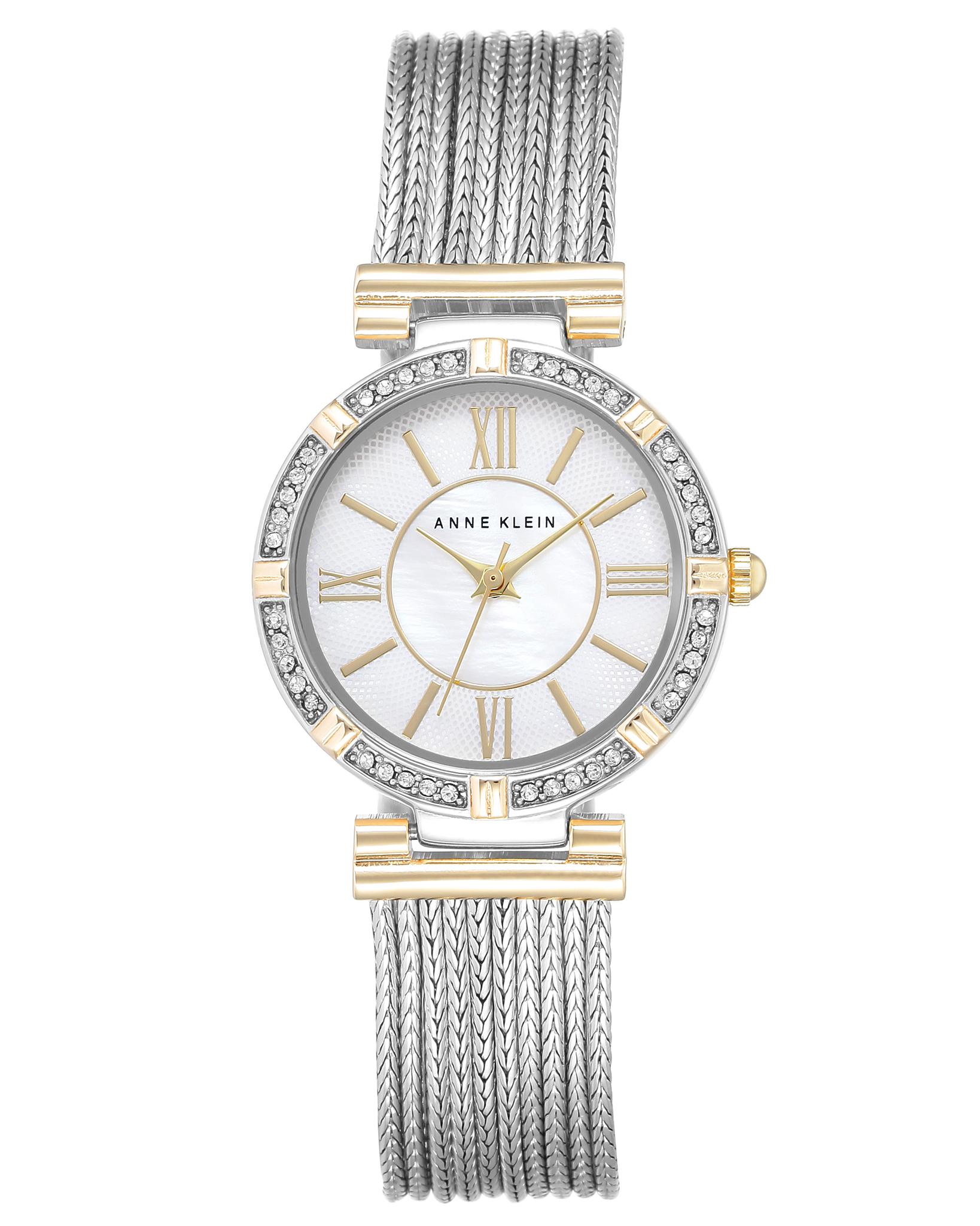 Anne Klein 2145MPTT - женские наручные часы из коллекции RINGAnne Klein<br><br><br>Бренд: Anne Klein<br>Модель: Anne Klein 2145 MPTT<br>Артикул: 2145MPTT<br>Вариант артикула: None<br>Коллекция: RING<br>Подколлекция: None<br>Страна: США<br>Пол: женские<br>Тип механизма: кварцевые<br>Механизм: None<br>Количество камней: None<br>Автоподзавод: None<br>Источник энергии: от батарейки<br>Срок службы элемента питания: None<br>Дисплей: стрелки<br>Цифры: римские<br>Водозащита: WR 30<br>Противоударные: None<br>Материал корпуса: не указан, PVD покрытие (частичное)<br>Материал браслета: не указан, PVD покрытие (частичное)<br>Материал безеля: None<br>Стекло: минеральное<br>Антибликовое покрытие: None<br>Цвет корпуса: None<br>Цвет браслета: None<br>Цвет циферблата: None<br>Цвет безеля: None<br>Размеры: 28 мм<br>Диаметр: None<br>Диаметр корпуса: None<br>Толщина: None<br>Ширина ремешка: None<br>Вес: None<br>Спорт-функции: None<br>Подсветка: None<br>Вставка: None<br>Отображение даты: None<br>Хронограф: None<br>Таймер: None<br>Термометр: None<br>Хронометр: None<br>GPS: None<br>Радиосинхронизация: None<br>Барометр: None<br>Скелетон: None<br>Дополнительная информация: None<br>Дополнительные функции: None