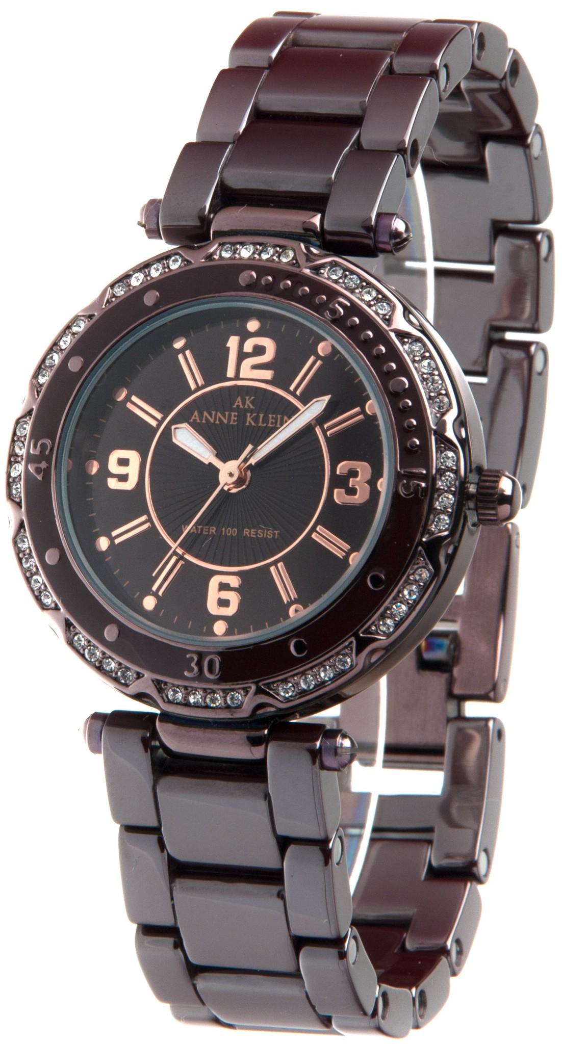 Anne Klein 9703BMBN - женские наручные часы из коллекции CeramicsAnne Klein<br><br><br>Бренд: Anne Klein<br>Модель: Anne Klein 9703 BMBN<br>Артикул: 9703BMBN<br>Вариант артикула: None<br>Коллекция: Ceramics<br>Подколлекция: None<br>Страна: США<br>Пол: женские<br>Тип механизма: кварцевые<br>Механизм: None<br>Количество камней: None<br>Автоподзавод: None<br>Источник энергии: от батарейки<br>Срок службы элемента питания: None<br>Дисплей: стрелки<br>Цифры: арабские<br>Водозащита: WR 30<br>Противоударные: None<br>Материал корпуса: не указан, PVD покрытие (полное)<br>Материал браслета: керамика<br>Материал безеля: None<br>Стекло: минеральное<br>Антибликовое покрытие: None<br>Цвет корпуса: None<br>Цвет браслета: None<br>Цвет циферблата: None<br>Цвет безеля: None<br>Размеры: 34 мм<br>Диаметр: None<br>Диаметр корпуса: None<br>Толщина: None<br>Ширина ремешка: None<br>Вес: None<br>Спорт-функции: None<br>Подсветка: стрелок<br>Вставка: кристаллы Swarovski<br>Отображение даты: None<br>Хронограф: None<br>Таймер: None<br>Термометр: None<br>Хронометр: None<br>GPS: None<br>Радиосинхронизация: None<br>Барометр: None<br>Скелетон: None<br>Дополнительная информация: None<br>Дополнительные функции: None