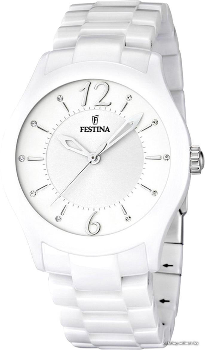 Festina F16638.1 - женские наручные часы из коллекции CeramicFestina<br><br><br>Бренд: Festina<br>Модель: Festina F16638/1<br>Артикул: F16638.1<br>Вариант артикула: None<br>Коллекция: Ceramic<br>Подколлекция: None<br>Страна: Испания<br>Пол: женские<br>Тип механизма: кварцевые<br>Механизм: Miyota<br>Количество камней: None<br>Автоподзавод: None<br>Источник энергии: от батарейки<br>Срок службы элемента питания: None<br>Дисплей: стрелки<br>Цифры: арабские<br>Водозащита: WR 50<br>Противоударные: None<br>Материал корпуса: нерж. сталь + керамика<br>Материал браслета: керамика<br>Материал безеля: None<br>Стекло: минеральное<br>Антибликовое покрытие: None<br>Цвет корпуса: None<br>Цвет браслета: None<br>Цвет циферблата: None<br>Цвет безеля: None<br>Размеры: 37x9 мм<br>Диаметр: None<br>Диаметр корпуса: None<br>Толщина: None<br>Ширина ремешка: None<br>Вес: None<br>Спорт-функции: None<br>Подсветка: None<br>Вставка: None<br>Отображение даты: None<br>Хронограф: None<br>Таймер: None<br>Термометр: None<br>Хронометр: None<br>GPS: None<br>Радиосинхронизация: None<br>Барометр: None<br>Скелетон: None<br>Дополнительная информация: срок службы батарейки 36 месяцев<br>Дополнительные функции: None