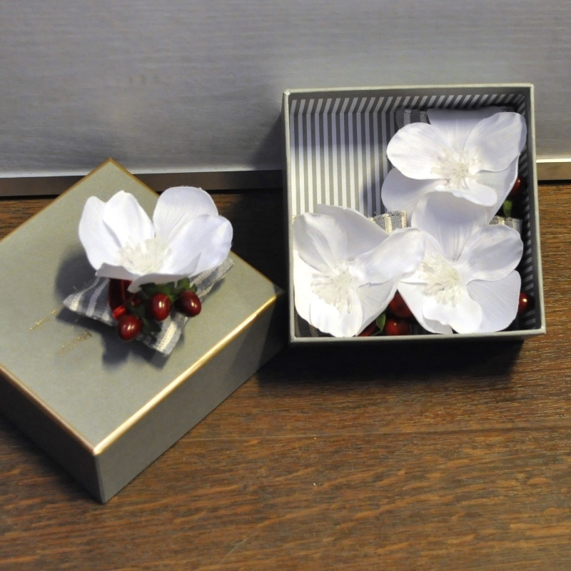 Серия «Рождество в Париже» Саше<br>Серия Рождество в Париже Четыре подушечки-саше в серой коробке<br>