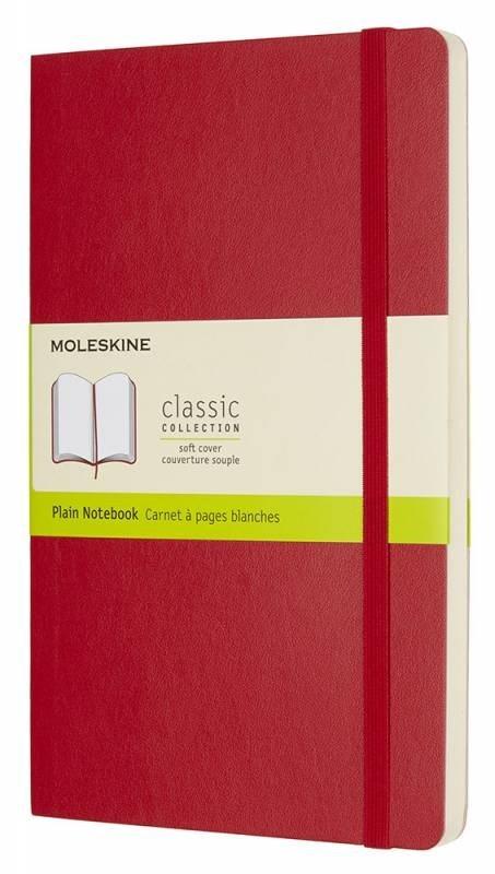 Блокнот Moleskine Classic Soft, цвет красный, без разлиновкиMOLESKINE<br>Количество страниц: 192<br>