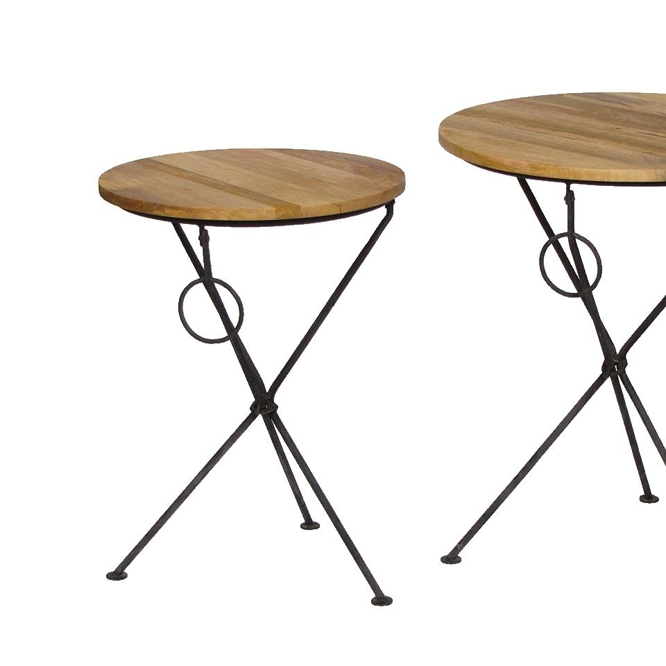 Круглый журнальный столик малый (Мебель и предметы интерьера)Мебель и предметы интерьера<br>Круглый журнальный столик малый<br>Материал: Дерево, металл<br>Производитель: Dekoratief, Бельгия<br>