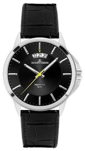 Jacques Lemans 1-1540A - мужские наручные часы из коллекции SydneyJacques Lemans<br><br><br>Бренд: Jacques Lemans<br>Модель: Jacques Lemans 1-1540A<br>Артикул: 1-1540A<br>Вариант артикула: None<br>Коллекция: Sydney<br>Подколлекция: None<br>Страна: Австрия<br>Пол: мужские<br>Тип механизма: кварцевые<br>Механизм: None<br>Количество камней: None<br>Автоподзавод: None<br>Источник энергии: от батарейки<br>Срок службы элемента питания: None<br>Дисплей: стрелки<br>Цифры: отсутствуют<br>Водозащита: WR 10<br>Противоударные: None<br>Материал корпуса: нерж. сталь<br>Материал браслета: кожа<br>Материал безеля: None<br>Стекло: Crystex<br>Антибликовое покрытие: None<br>Цвет корпуса: None<br>Цвет браслета: None<br>Цвет циферблата: None<br>Цвет безеля: None<br>Размеры: 42x42 мм<br>Диаметр: None<br>Диаметр корпуса: None<br>Толщина: None<br>Ширина ремешка: None<br>Вес: None<br>Спорт-функции: None<br>Подсветка: стрелок<br>Вставка: None<br>Отображение даты: число<br>Хронограф: None<br>Таймер: None<br>Термометр: None<br>Хронометр: None<br>GPS: None<br>Радиосинхронизация: None<br>Барометр: None<br>Скелетон: None<br>Дополнительная информация: None<br>Дополнительные функции: None