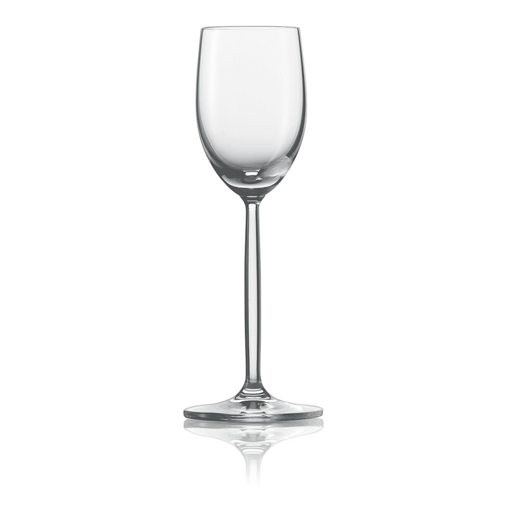 Набор из 6 рюмок для водки/ликера 80 мл SCHOTT ZWIESEL Diva арт. 104 098-6Бокалы и стаканы<br>Набор из 6 рюмок для водки/ликера 80 мл SCHOTT ZWIESEL Diva арт. 104 098-7<br><br>вид упаковки: подарочнаявысота (см): 16.5диаметр (см): 6.0материал: хрустальное стеклоназначение: для ликераобъем (мл): 80предметов в наборе (штук): 6страна: Германия<br>Элегантные рюмки и бокалы на высоких тонких ножках серии Diva — воплощение классических форм и безупречного стиля. Эта красивая и практичная коллекция создана для разнообразных вин: белых и красных, молодых и зрелых, легких и крепких.<br>Изящный дизайн и удобные формы рюмок, бокалов и фужеров серии Diva позволит вам приятно насладиться любимым напитком, смакуя его маленькими глотками.<br>Кажущаяся хрупкость этих изделий обманчива: тритановое стекло, из которого они изготовлены, обладает невероятной прочностью, что позволяет использовать их ежедневно и мыть в посудомоечной машине, не опасаясь, что они разобьются или потеряют прозрачность и первозданный блеск.<br>