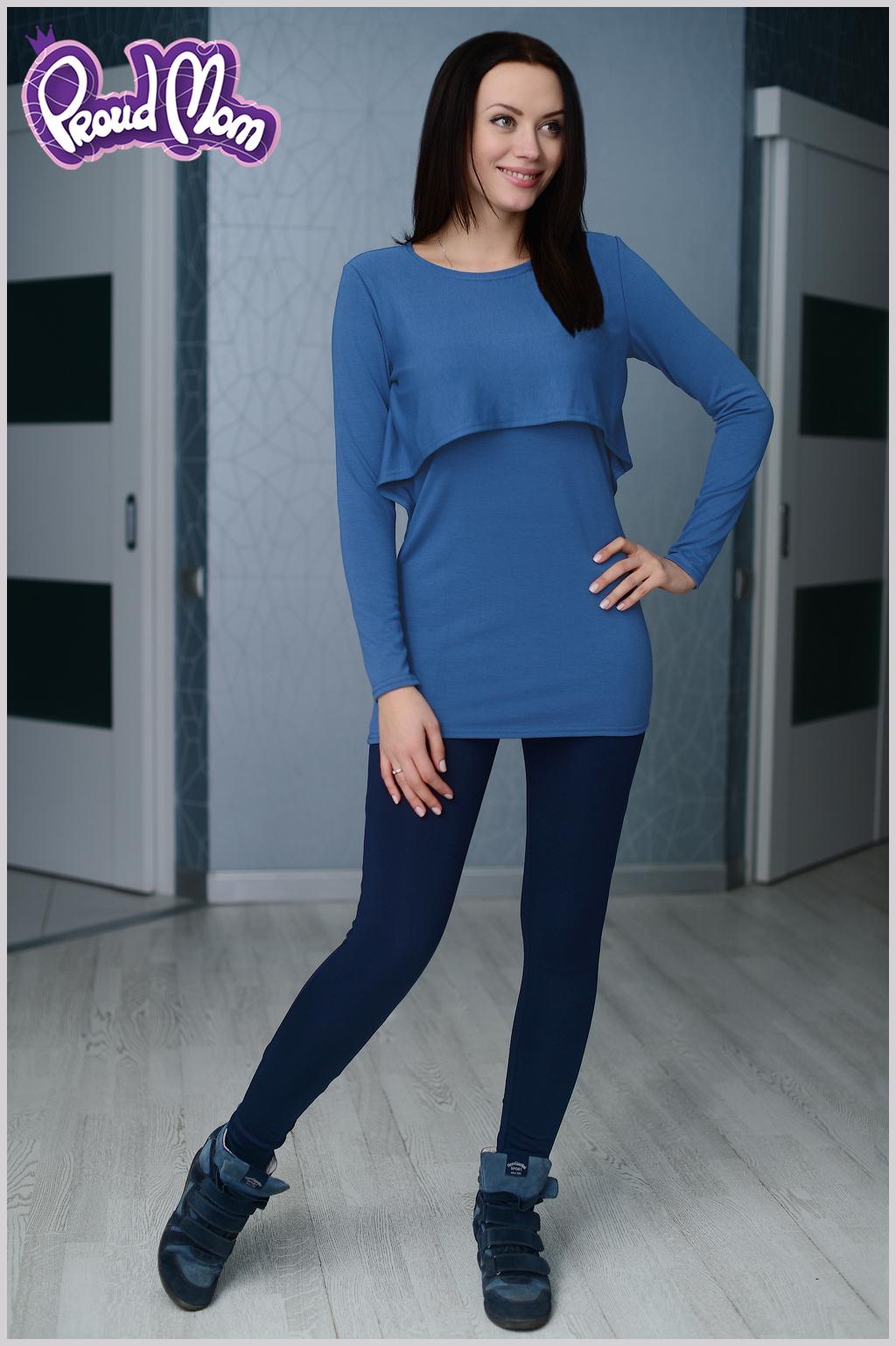 Романтичная и практичная туника - прекрасный повседневный вариант одежды  для кормящих мам. Эффектно комбинируется с леггинсами и лосинами. e8a451dd721