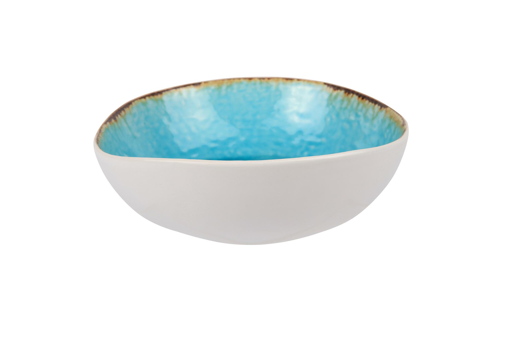 Миска 19х17,5х6 см COSY&amp;TRENDY Laguna azzuro 6272041Новинки<br>Миска 19х17,5х6 см COSY&amp;TRENDY Laguna azzuro 6272041<br><br>Эта коллекция из каменной керамики поражает удивительным цветом, текстурой и формой. Ярко-голубой оттенок с волнистым рельефом погружают в райскую лагуну. Органические края для дополнительного дизайна. Коллекция Laguna Azzuro воссоздает исключительный внешний вид приготовленных блюд.<br>
