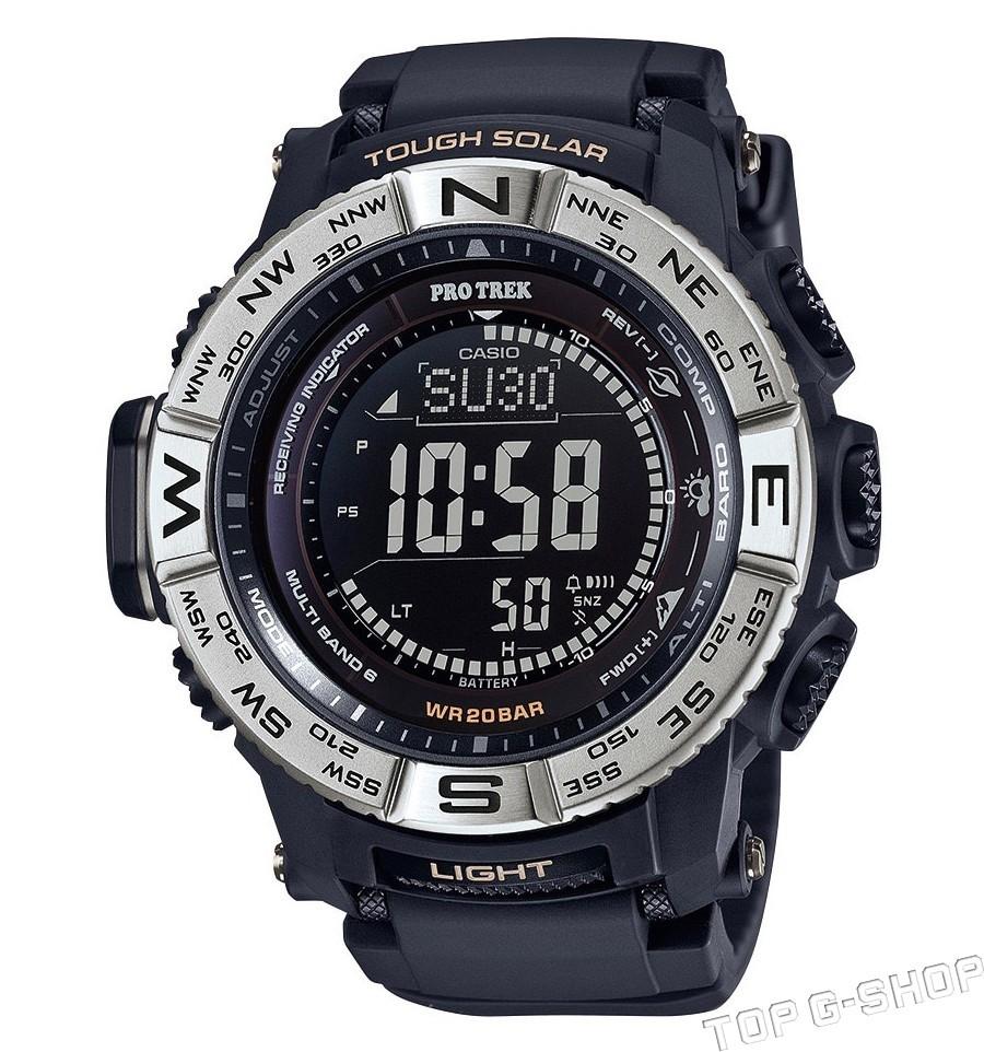 Casio Protrek PRW-3510-1E / PRW-3510-1ER - мужские наручные часыCasio<br><br><br>Бренд: Casio<br>Модель: Casio PRW-3510-1E<br>Артикул: PRW-3510-1E<br>Вариант артикула: PRW-3510-1ER<br>Коллекция: Protrek<br>Подколлекция: None<br>Страна: Япония<br>Пол: мужские<br>Тип механизма: кварцевые<br>Механизм: None<br>Количество камней: None<br>Автоподзавод: None<br>Источник энергии: от солнечной батареи<br>Срок службы элемента питания: None<br>Дисплей: цифры<br>Цифры: None<br>Водозащита: WR 100<br>Противоударные: есть<br>Материал корпуса: алюминий + пластик<br>Материал браслета: каучук<br>Материал безеля: None<br>Стекло: минеральное<br>Антибликовое покрытие: None<br>Цвет корпуса: None<br>Цвет браслета: None<br>Цвет циферблата: None<br>Цвет безеля: None<br>Размеры: 47x56x12.3 мм<br>Диаметр: None<br>Диаметр корпуса: None<br>Толщина: None<br>Ширина ремешка: None<br>Вес: 94 г<br>Спорт-функции: секундомер, таймер обратного отсчета, высотомер, барометр, термометр, компас<br>Подсветка: дисплея<br>Вставка: None<br>Отображение даты: вечный календарь, число, месяц, год, день недели<br>Хронограф: None<br>Таймер: None<br>Термометр: None<br>Хронометр: None<br>GPS: None<br>Радиосинхронизация: None<br>Барометр: None<br>Скелетон: None<br>Дополнительная информация: автоподсветка, ежечасный сигнал, повтор сигнала будильника, время восхода и захода Солнца, коррекция времени по радиосигналу, функция сохранения энергии, функция включения/отключения звука кнопок, работоспособность в полной темноте до 7 месяцев в обычном режиме и до 23 месяцев в режиме сохранения энергии<br>Дополнительные функции: индикатор запаса хода, второй часовой пояс, будильник (количество установок: 5)