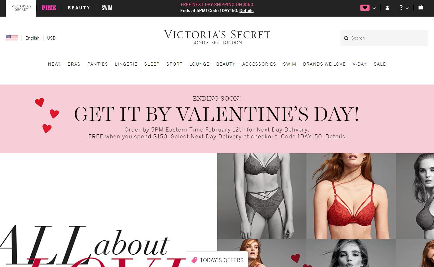 Накопительные бонусы от Victoria's Secret