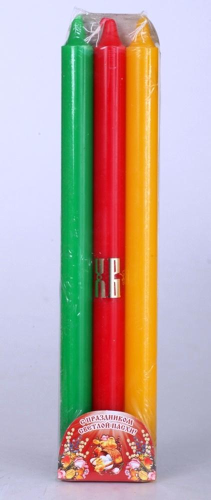Набор свечей для Пасхального трехсвечника на сайте http://svechy-vosk.ru/
