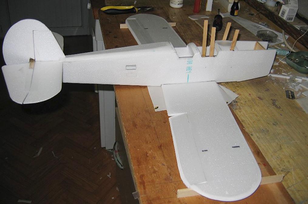 макет самолёта.