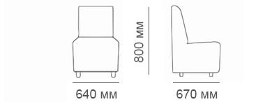 Габаритные размеры кресла Денвер