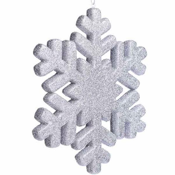 Снежинка из пенопласта окрашенная.