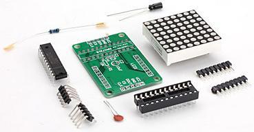 Модуль RL003. Модуль LED-матрицы 8 x 8 в разборе