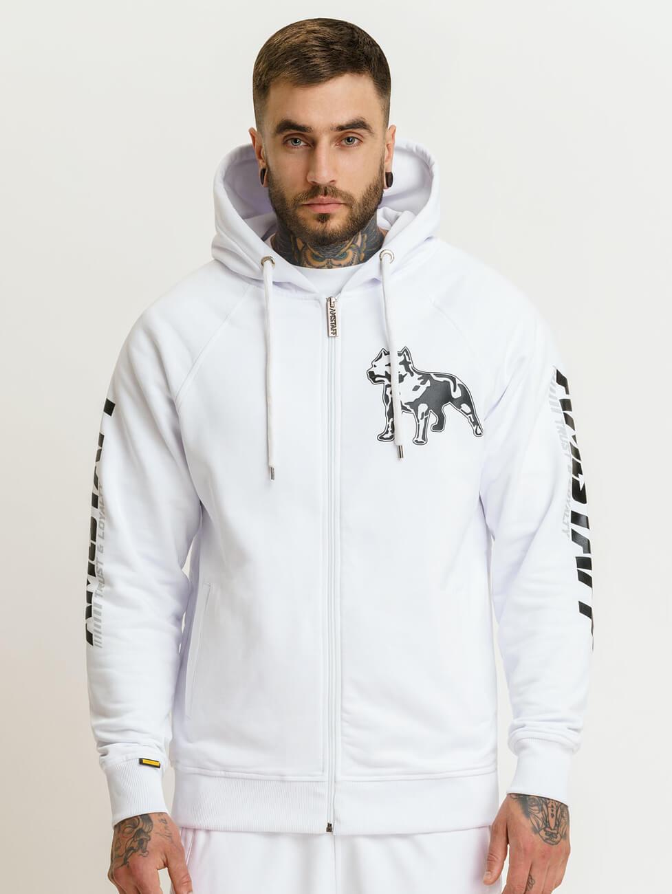 Белый спортивный костюм мужской купить с получением в Москве или спб