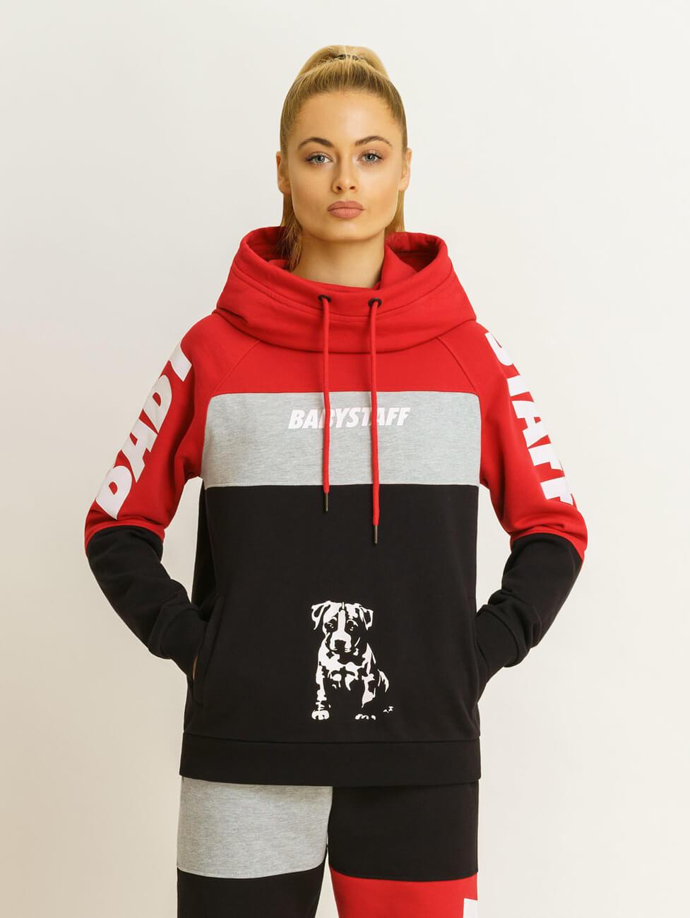 Красно черный спортивный костюм женский Амстафф Babystaff Aruna red