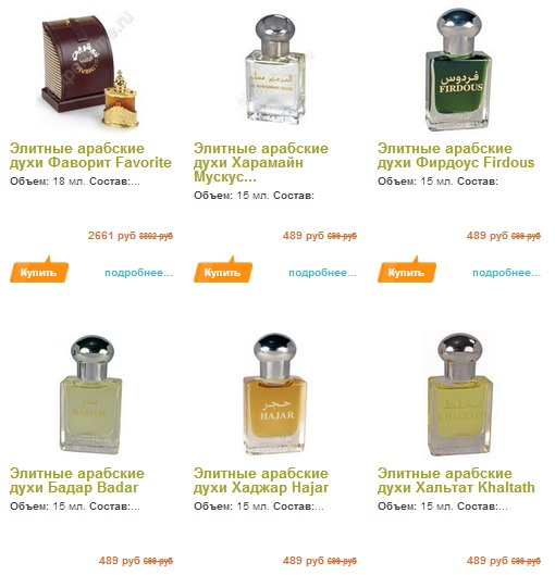 Запах кожи в арабских духах