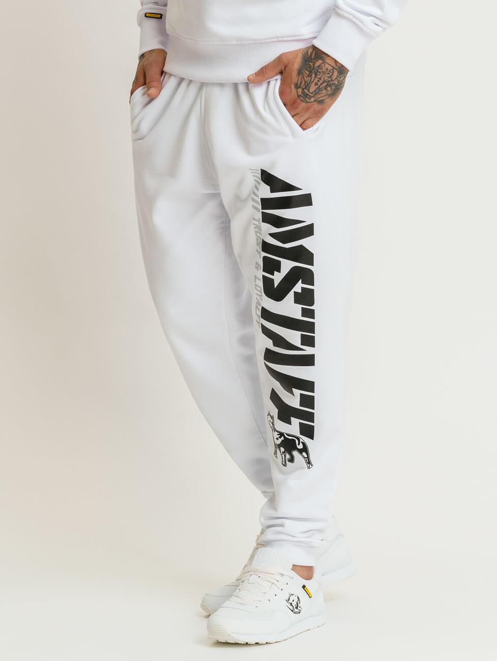Красивые мужские спортивные белые костюмы Amstaff Logo 2.0 white