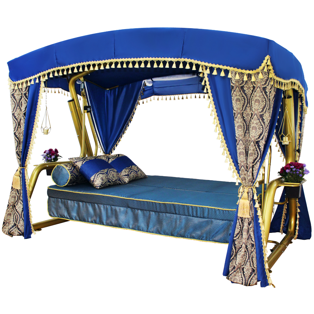 Княгиня синие кровать