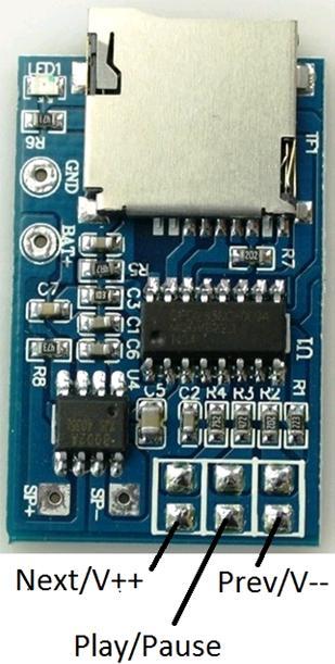 Модуль RS022. Монофонический MP3 плеер
