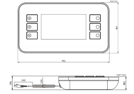 Размеры Siemens POL871.71/STD