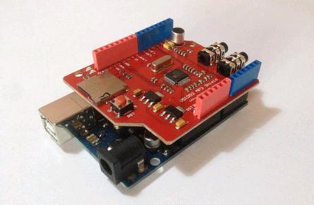 Модуль RS024. MP3–плеер-рекордер для платформы Arduino с поддержкой micro-SD карт и возможностью воспроизведения потокового audio (интернет-радио)