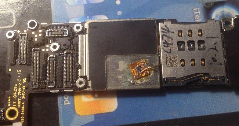 Пример впаянного rsim в iphone