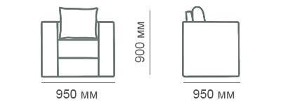 Габаритные размеры кресла Карелия