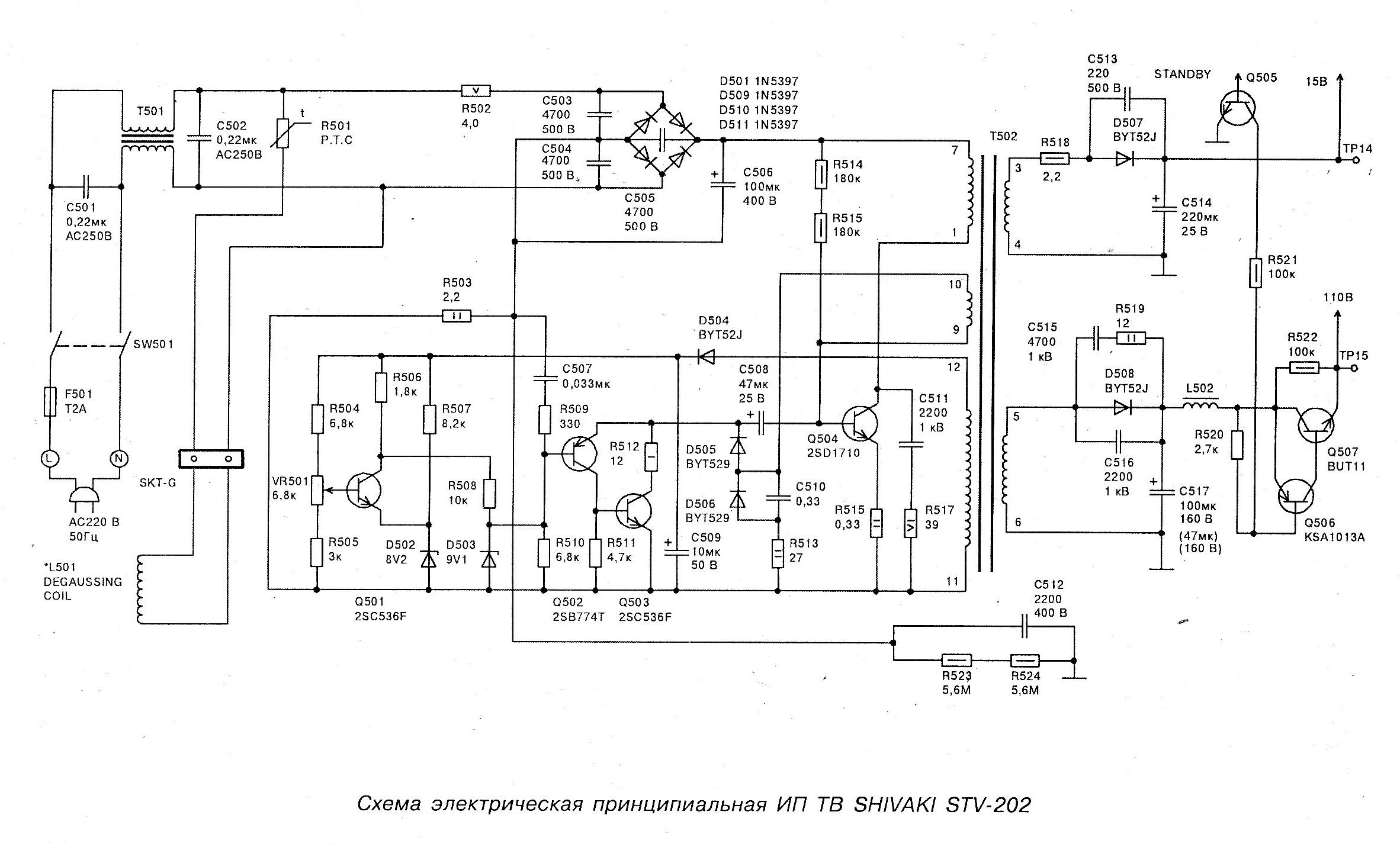 Схемы для телевизора шиваки