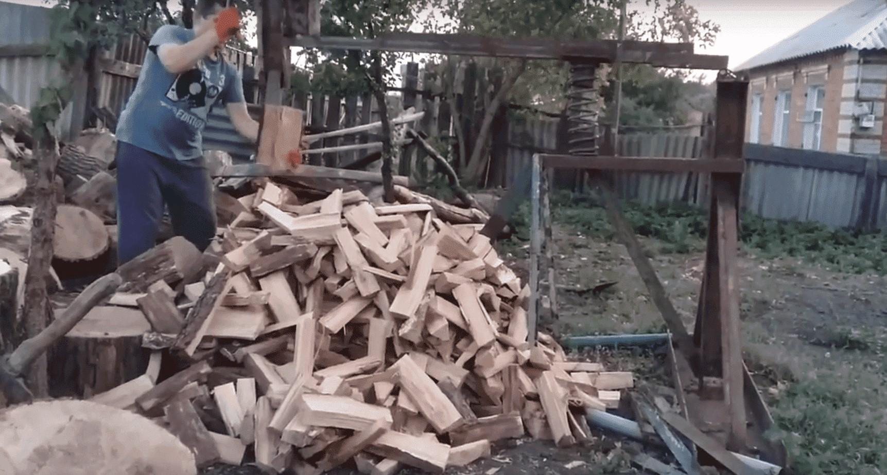 пружинный дровокол