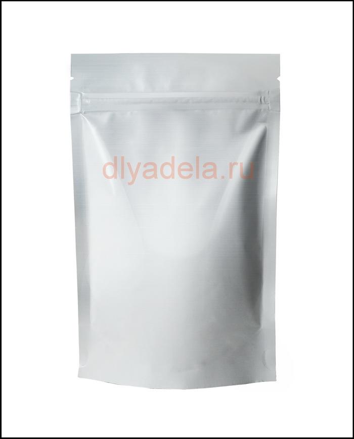 пакет ДОЙ-ПАК металлизированный с застежкой ZIP-LOCK , белый матовый