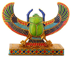 Скарабей с нефритом. Древний Египет