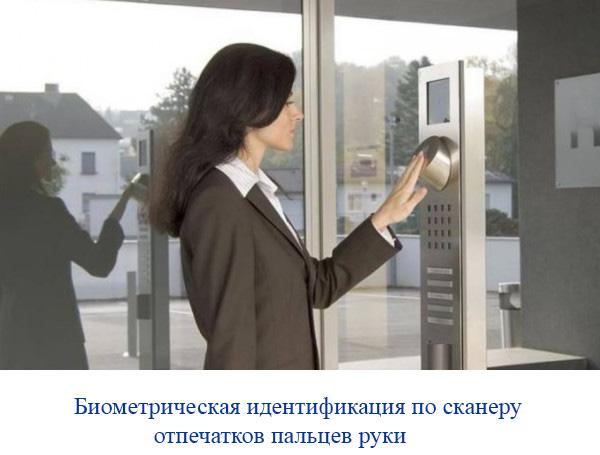 Биометрическая идентификация по сканеру отпечатков пальцев руки