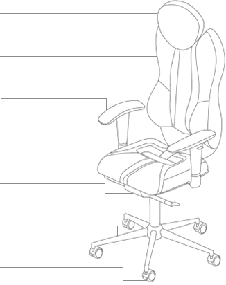 Функционал кресла KULIK SYSTEM GRAND