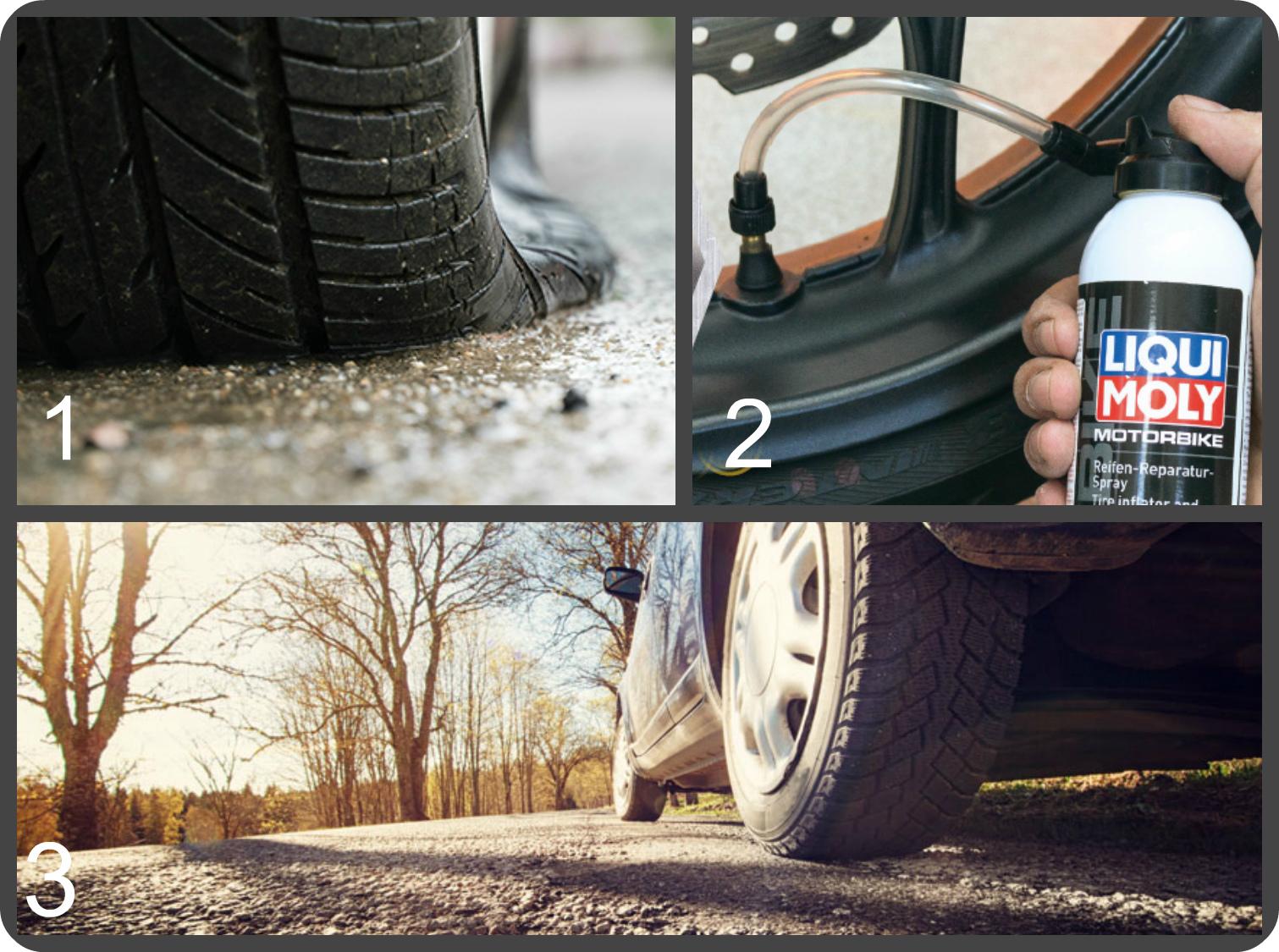 Спрей для ремонта шин